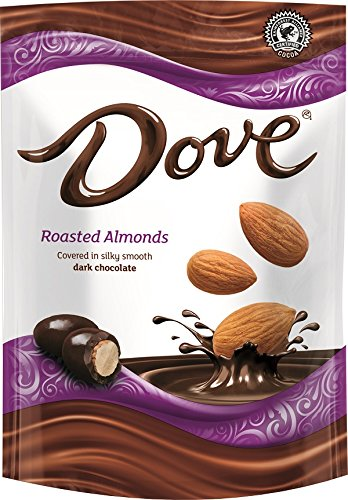 Dove Dark Chocolate Covered Almond Candy Pouch, 5.5 Ounce (Dark Chocolate Dove)