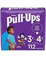 Pull-Ups Boys' Potty Training Pants Training Underwear Size 5, 3T-4T, 28 Count (Pack of 4), One Month Supply