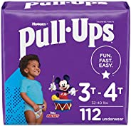 Pull-Ups Boys' Potty Training Pants Training Underwear Size 5, 3T-4T, 28 Count (Pack of 4), One Month Su