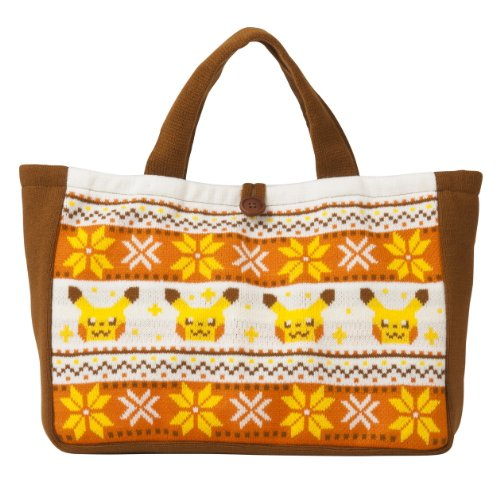 Knit Center Tote Pokemon Original Bag Pikachu xFCgXX7wq