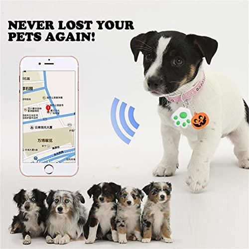 GPS Locator Pet Smart GPS Tracker Mini Anti-Lost Waterproof Bluetooth Locator Tracer for Pet Dog Cat Kids Car Wallet Key Collar Accessories(Green)