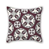PILLO 18 x 18 inches / 45 by 45 cm Colorful geometry throw cushion covers,twice sides is fit for christmas,dinning room,her,bf,gf,drawing room