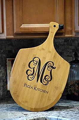 Personalized Pizza Pan - Pizza Tray - Pizza Paddle - Custom Pizza Board - Pizza Peel - Bread Peel - Wood Pizza Peel - Pizza Kitchen Gift