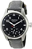 Alpina Men's AL-280B4S6 Startimer Pilot Big Date Analog Display Swiss Quartz Black Watch