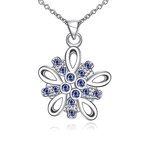 Womens Crystal Eternal Pendant Necklace Fashion Jewelry for Women-Gail D. Billings (Blue) Austrian Crystal Dog Bone Collar
