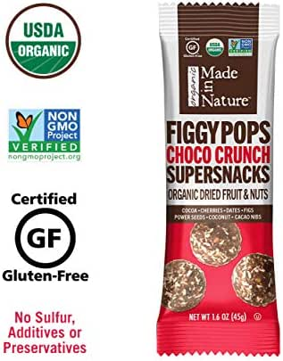 Dried Fruit & Raisins: Made in Nature Figgy Pop Snack Size