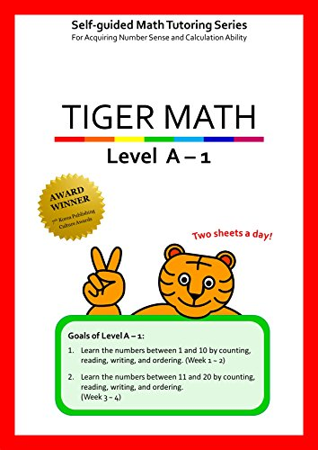 Tiger Math Level A - 1 for Grade K (Self-guided Math Tutoring Series - Elementary Math Workbook) (1 Tiger)