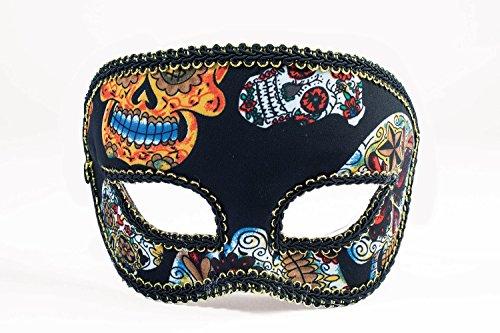 Men's Day of the Dead Sugar Skulls Deluxe Mask
