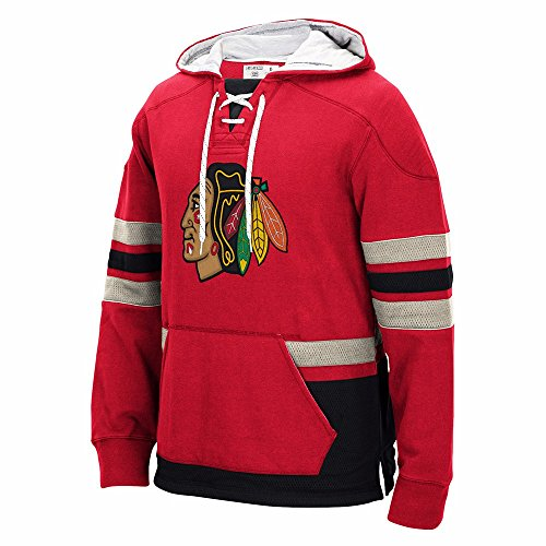 Reebok Chicago Blackhawks CCM Pullover Hooded Sweatshirt Large 0627a5101
