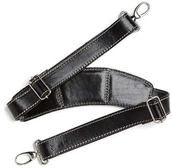 Floto Luggage Leather Super Strap, Black, One Size