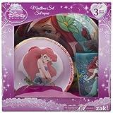 Zak Little Mermaid Plastic Plate, Bowl & Cup Mealtime Gift Set 3 Pieces