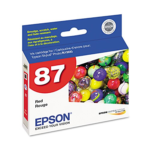Epson 87 T087720 Red OEM Genuine Inkjet/Ink Cartridge - Retail