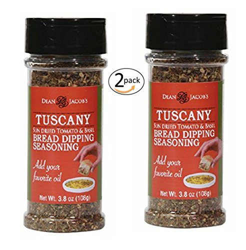 Dean Jacob's Tuscany Bread Dipping Blend, 3.8 Oz Stacking Jar 2 pack by Dean Jacob's