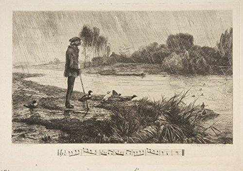 Félix Bracquemond | Les Canards l'ont bien passé | Antique Vintage Fine Art Print Reproduction