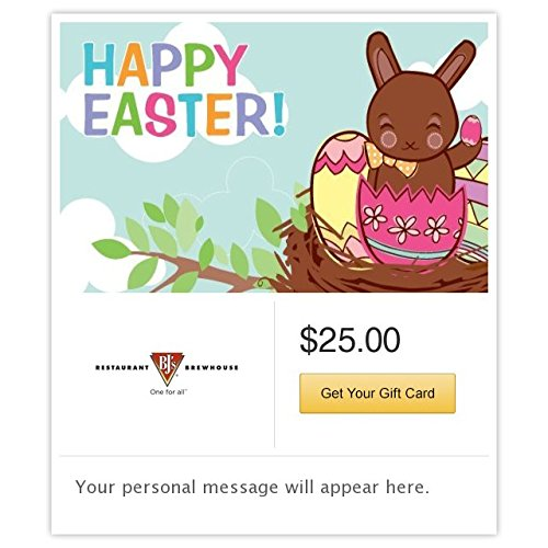 BJ's Restaurant & Brewhouse Happy Easter - Chocolate Bunny Gift Cards - E-mail Delivery