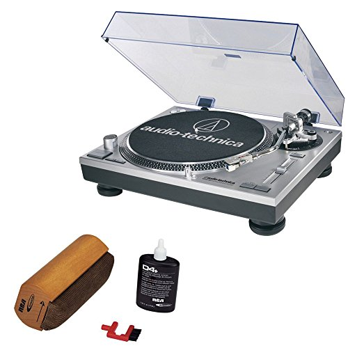 Audio-Technica ATLP120USB Professional Stereo Turntable w/ USB LP to DIG With RCA Turntable Cleaning System