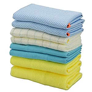 "Multiply Purpose Microfiber Cloth with Combination of Dish Cloth, Scrub Cloth Polishing Cloth, Microvillus Cleaning Cloth, 2 piece of each, (8 Pack). No Lint, No Scratch, No Streaks, 12"" x 12"""