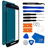 MMOBIEL Front Glass Replacement Compatible withMotorola Google Nexus 6 (Black) Display Touchscreen incl Tool Kit