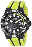 "Citizen Men's BN0095-16E Eco-Drive ""Scuba Fin"" Yellow and Black Dive Watch"