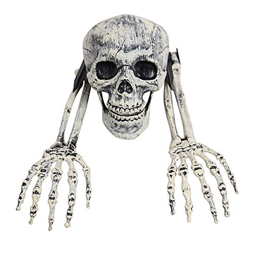 Price comparison product image SHJNHAN 3 Piece Halloween Horror Buried Alive Skeleton Skull Garden Yard Lawn Decoration