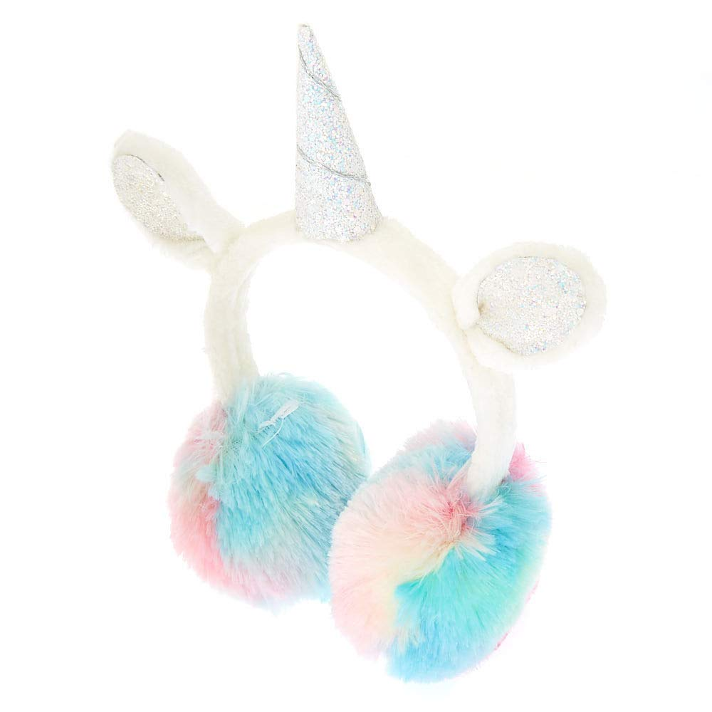 Claire's Girl's Unicorn Ear Muffs White Claire's