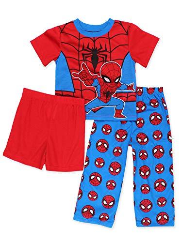 Super Hero Adventures Spider-Man Toddler Boys 3-Piece Pajama Set (2T, -