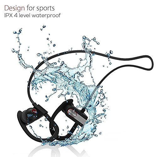 Bluetooth Headphones Wireless Earbuds IPX6 Waterproof HD Stereo Sweatproof Sports Earphones Music Headset with Mic, 8 Hrs Working Time for Running Gym Workout bluetooth earpiece fit for iPhone Samsung