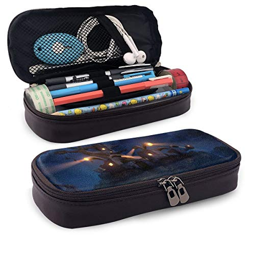 Legend of Zelda Wind Waker Forsaken Fortress PU Leather Pencil Case with Zipper, Pouch Stationary Bag for Middle High School College Student Office Girls Boys Kids Adult,Storage Bag Makeup Bag (Legend Of Zelda Wind Waker Forsaken Fortress 2)