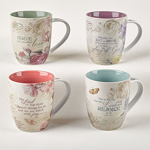 Floral Inspirations Collection Inspirational Mugs – Set / 4