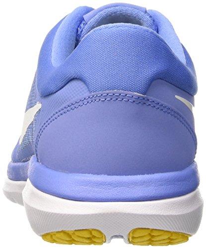 Nike Wmns Flex 2015 RN, Zapatillas para Mujer, Azul (Chlk Bl / White Hypr Orng Vrsty), 38 1/2 EU