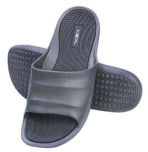 Roxoni Mens Slide Sandals Open Toe Flip Flop Beach and Showe