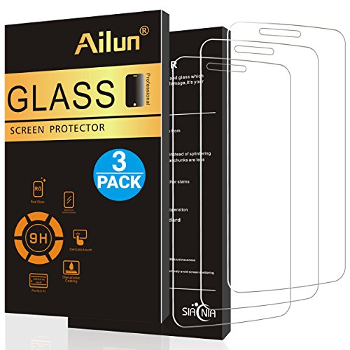 Aliun LG Stylo 3 Screen Protector,[0.2mm]3 Pack,Tempered Glass for LG Stylo 3/Stylus 3,2.5D Edge,Ultra Clear/Toughness,Anti-Scratch,Case Friendly-Siania Retail Package
