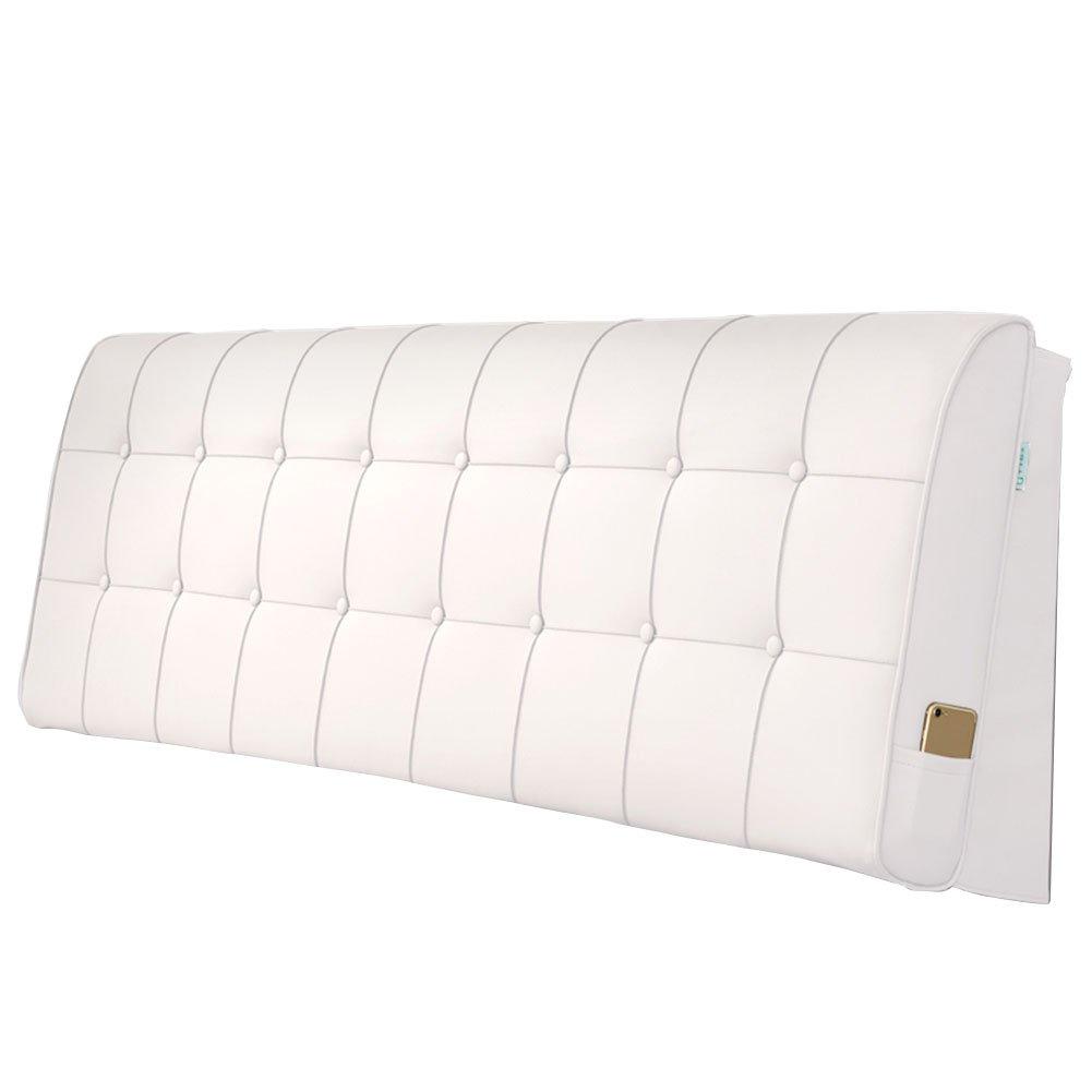 LIANGLIANG クッションベッドの背もたれ 二人の特別な大きい耐久性のある柔らかい洗え、5サイズ13色 (色 : 白, サイズ さいず : Length 90cm) B07FQPJ9R9 Length 90cm|白 白 Length 90cm