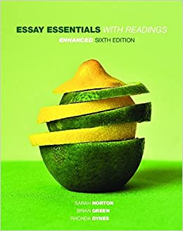 Essay essentials with readings enhanced sarah norton brian green essay essentials with readings enhanced sarah norton brian green rhonda dynes 9780176720957 creative writing composition amazon canada fandeluxe