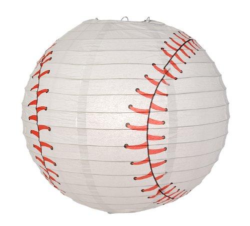 Quasimoon PaperLanternStore.com Baseball Paper Lantern (10 PACK) by Quasimoon