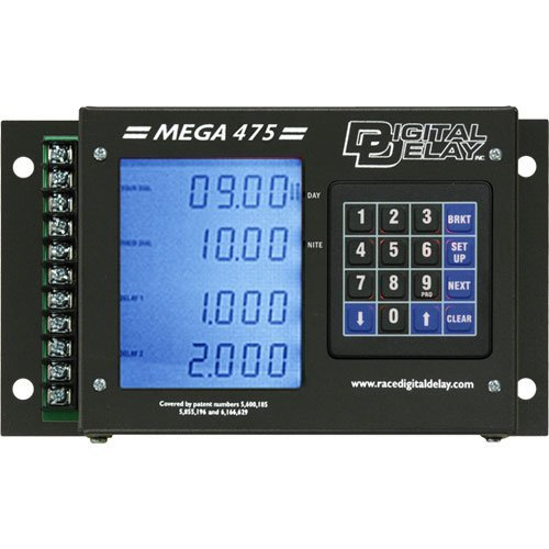 Biondo DDI-1095-BB Mega 475 Digital Delay Box Black Case Blue Display ()