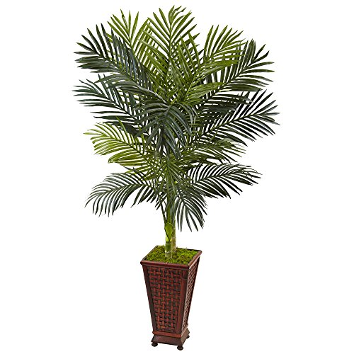 Nearly Natural 5' Golden Cane Palm Artificial Tree, Green by Nearly Natural (Image #1)