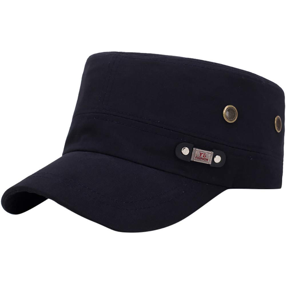 Unisex Flat Roof Military Hat,Anglewolf Cadet Patrol Hat Baseball Cap