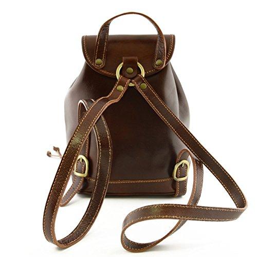 Leder Rucksack Farbe Braun - Italienische Lederwaren - Rucksack