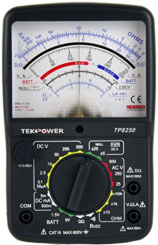 Nice Tekpower TP8250 Analog Multimeter with NULL Center Place Zero For Variation Measurement  Evaluations