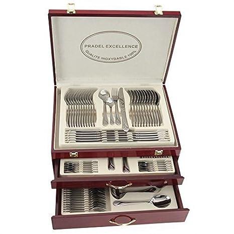 Pradel Excellence D635C-113 - Cubertería combinada, color plata: Amazon.es: Hogar