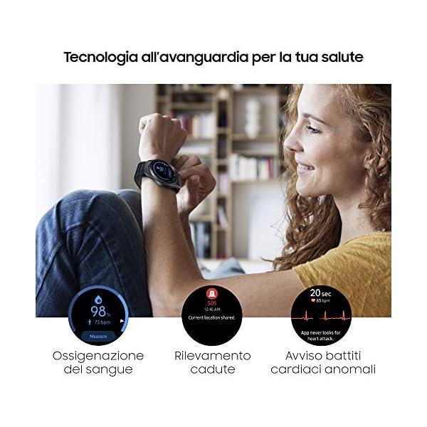 Samsung Galaxy Watch3 Smartwatch Bluetooth, cassa 45mm acciaio, cinturino pelle, Saturimetro, Rilevamento cadute… 4
