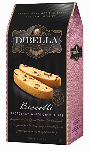 DiBella Baking Company Biscotti, Raspberry White Chocolate