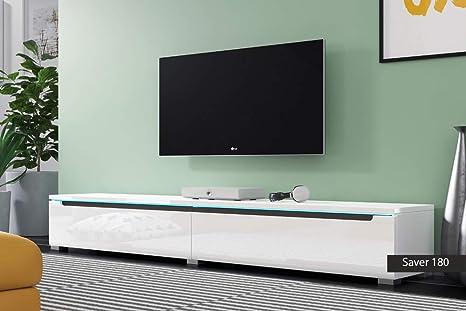 Porta Tv Originali.Porta Tv Originali Saver 180 Cm 180x26 1x33 Bianco Lucido