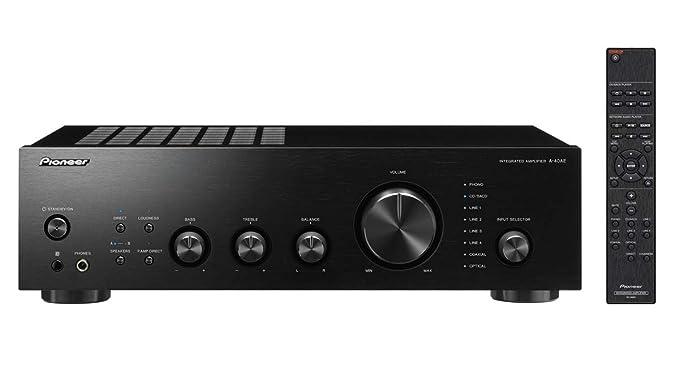 Pioneer A-40AE Alámbrico Negro - Amplificador de Audio (106 dB, 10-100000 Hz, 220-230, 50/60, 150 W, 0,2 W)