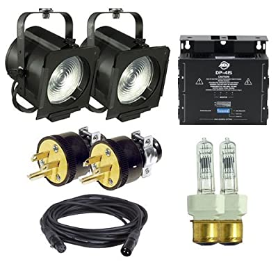 Amazon Altman Stage Lighting 65Q Fresnel Light 2 Pack With DMX Dimmer Musical Instruments