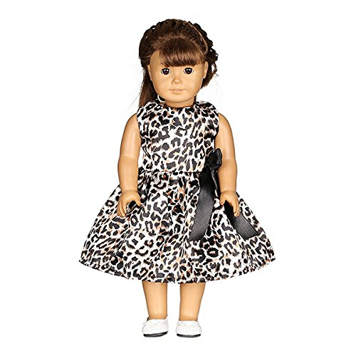 Doll Heart Wigs (Toys & Gifts - Leopard-Print Doll Dress Handmade Clothes For 18inch American Girl - Organizer Barbies Barbie Clothes Nurse Doctor Inch Doll Accessory American Meilis Dress Girl - For And - 1PCs)