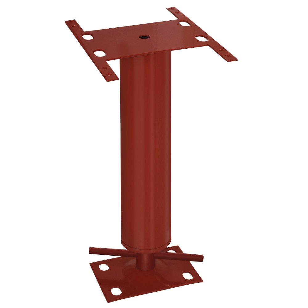 Mini-Column Adjustable Permanent Support 3'' O.D. 1'4'' - 1'8'' H Plate