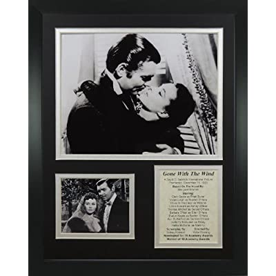 """Legends Never Die """"Gone with The Wind Kiss"""" Framed Photo Collage, 11 x 14-Inch by Legends Never Die"""