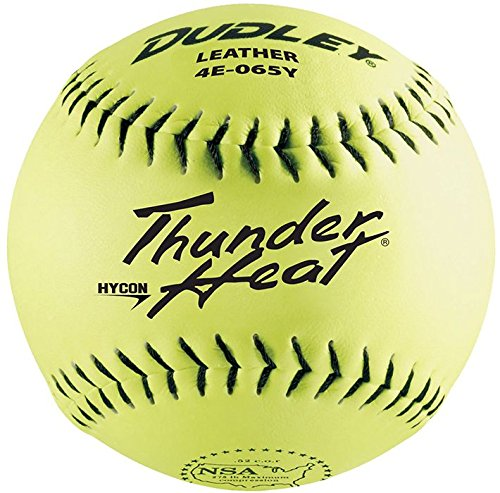 Dudley 12'' Thunder Heat NSA Leather Slowpitch Softball (DZ) by Douglas